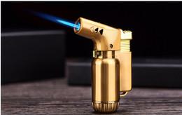 Recarregando isqueiros on-line-Atualização quente de metal portátil butano tocha pistola isqueiro à prova de vento ferramenta de cozinha ferramenta de jato de água à prova de vento de recarga de charuto isqueiro