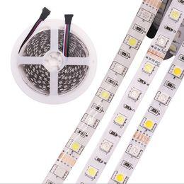 rgbw led light strips UK - RGBW led light strip 12V 60leds smd 5050 RGB+W for house and outdoor display color change