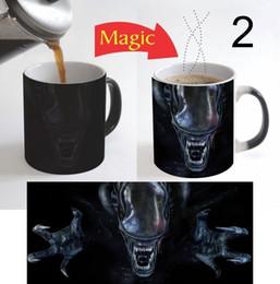 Wholesale change movie - movie alien mugs coffee mug friend gifts novelty heat reveal cup heat changing color heating cup ceramic magic mug