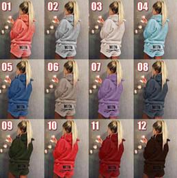 Pyjama brodé en Ligne-Cat Hooded Broderie Pyjamas Femmes Chaud Doux Mignon 2 pcs Manches Longues À Court Pantalon Vêtements De Nuit Vêtements De Maison OOA5632