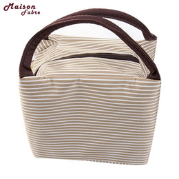 Wholesale Wholesale Brown Rice - Maison Fibre Insulation Package Portable Waterproof Canvas Lunch Bags Lunch With Rice drop shipping 0510 36%