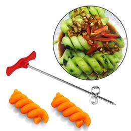 2019 plastikgurken Manuelle Spiralschnecke Slicer Kunststoff PP + Stahldraht Kartoffel Karotten Gurken Gemüse Spiralmesser Carving Tool günstig plastikgurken