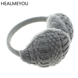 Wholesale Woman Winter Ear Cover - 2017 New Style Winter Earmuffs For Women Warm Unisex Ear Muffs Winter Ear Cover Knitted Plush Warmers Free Shipping