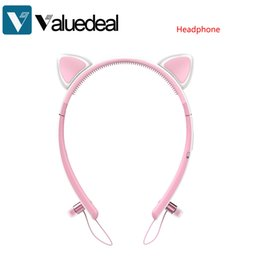 Wholesale Led Bunny Ears - Tronsmart Bunny Ears Bluetooth Headphones with LED light wireless Compatible for all Bluetooth enabled devices