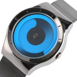 Wholesale Concepts Sport - Creative Aurora Gradient Dial Men's Watches Male Concept Pointer Full Steel Mesh Band Quartz-watch Unisex for Women Reloj Hombre