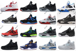 Wholesale Military Arts - High 4 Alternate 89 Shoes 4s BRED Royalty White Cement Fear Pack Fire Red Green Glow Sports Military Blue Black Cat Doernbecher oreo Sneaker