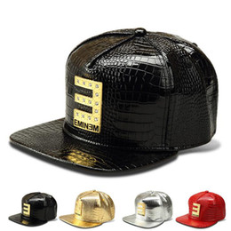 Wholesale Men Designer Wears - Hip hop EMINEM letter baseball caps for men high street wear gold crystal ball caps men fashion unisex designer hats free shipping