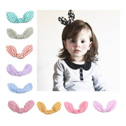 Wholesale Baby Best Sellers - 2017 New Pattern European Best Sellers Children Hairpin Circle Point Stripe Lattice Rabbit Ears Concise Hairpin Baby Hair