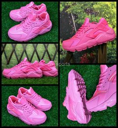 Wholesale Womans Sports - 2017 New Air Huarache I Woman Running Shoes Cheap Pink Women Sneakers Triple Huaraches 1 Trainers huraches Womans Sports Shoes 36-40