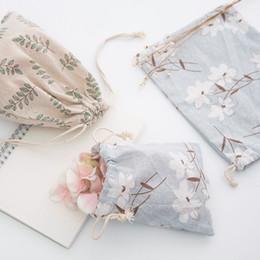 Bolso con cordón de algodón y cáñamo de una pequeña bolsa de tela, bolsa de lona, ropa interior, bolsos diversos. desde fabricantes