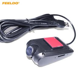 2019 registratore mp4 sd FEELDO Ultra Slim 720P HD Auto Anteriore USB Digital Video Recorder Car DVR Camera per auto Android 4.2 / 4.4 / 5.1 / 6.0 Navigatore Headunit # 4738