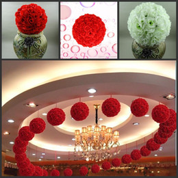 30cm 12 pouces mariage soie Pomander Kissing Ball boule de fleurs décorent fleur fleur artificielle pour la décoration de marché de jardin de mariage ? partir de fabricateur