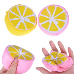 Wholesale Rose Children - 50pcs Lot Spicy Imitation Gift Squeeze Squishy Toys Buns Children De-Stress Kawaii Lemon Slow Rising Phone Strap Freeshipping