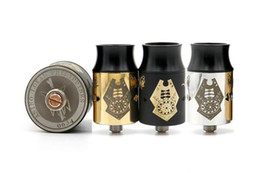 Wholesale Post Fittings - Atomizers Lantaka Shadow Black RDA Rebuildable Dripping Atomizers 22mm PEEK Insulators 2 Post 3 Colors Fit 510 Mods Electronic Cigarette dhl