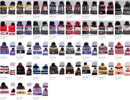 35 Arten NHL Ahorn Leafs Frauen Winter gestrickte Wolle Blackhawks Pinguine Flyer Haie Mützen Unisex Casual Caps Männer HipHop Beanie warme Hüte von Fabrikanten