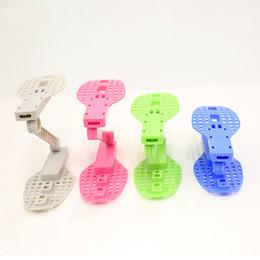 Suporte De Armazenamento De Sapata dobrável Prateleira Sapateira Organizador Espaço Saver Titular 2 Camadas De Plástico Ajustável DIY Shoe Organizer para Gabinete Armário de