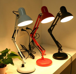 2019 morsetto e27 E27 Flessibile Lampada da tavolo per braccio girevole Rotazione da 360 gradi Home Office Lampada da tavolo per lettura con testa girevole Morsetto per lampada sconti morsetto e27