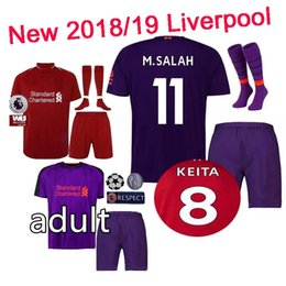 71dbc12a4 cotton soccer shirts Canada - Top quality AAA+2018 2019 M.SALAH soccer  Jersey