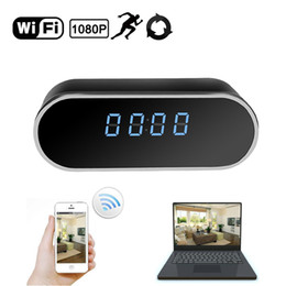 realtime camera Promo Codes - 32GB HD 1080P WiFi Camera Clock Wireless Security Camera Motion Detection App Realtime Video Remotely Monitoring for Home Office Nanny Cam