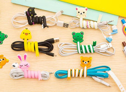 Cute Cartoon Animals Wire Manager Наушники-органайзер Winder Cord Router для кабеля данных и наушников от