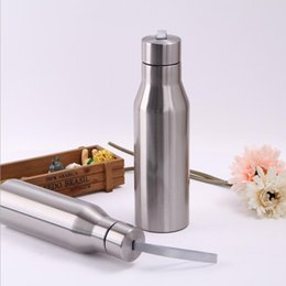 Wholesale Bicycle Insulated Bottle - 500ML Stainless Steel Sports Bottle Outdoor Bicycle Portable Water Bottles Insulated Vacuum Flask Car Kettle