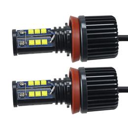 farol mercedes Desconto 2pcs 120W H8 CREE LED Angel Eyes Car LED de Halo Anel marcador Ampolas 6500K-7500K Branco Erro Free for BMW CLT_628