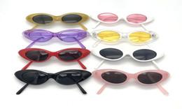 Rosa augenfilm online-2018 Kleine Cat Eye Sonnenbrille Coole Frauen Brillen UV400 Ocean Film Objektiv Cateye Vintage Rahmen Gläser Rosa Spiegel Shades Aviation Oculos