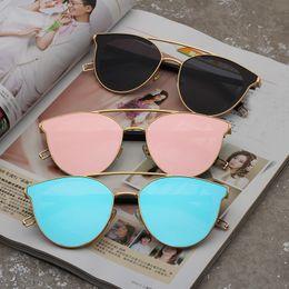 Wholesale Sun Glasses For Ladies - 2018 Fashion Sunglasses For Women Brand Designer Sun Glasses Ladies Rose Gold Eyewear UV400 Mirror Lens Female Oculos #8566