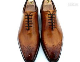 2019 chaussures de carrière pour femmes Chaussures habillées pour hommes Oxfords Chaussures pour hommes Chaussures personnalisées faites à la main Veau véritable Couleur du cuir Marron Vente chaude HD-035