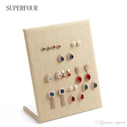 Wholesale Pin Stores - Natural Yellow Linen Material display shelf board pin earrings jewelry display stand earring holder jewelry box store shelf