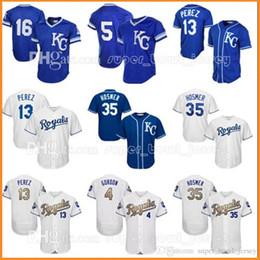 Wholesale Royal Jerseys - Men's Kansas City 13 Salvador Perez 35 Eric Hosmer Jersey Royals 16 Bo Jackson 4 Alex Gordon 5 George Brett Baseball Jerseys