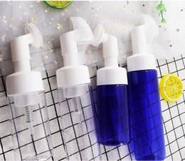 Botella de espuma azul online-Azul / claro Botella de espuma Espuma Bomba Jabón Mousses Espuma líquida Botellas con espuma Cepillo de masaje Cabeza Tubo 100 ml 150 ml 200 ml