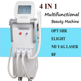Hautpflege professionelle ausrüstung online-4 IN 1 Professionelle IPL Haarentfernung Laser Tattooentfernung Elight RF Hautverjüngung Maschine Hautpflege Beauty Equipment