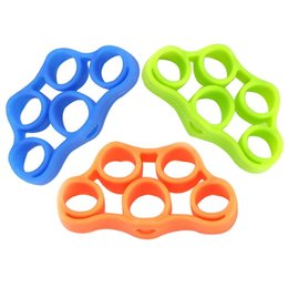 Dedos de corda on-line-3 PCS faixas de resistência ao Dedo bandas de borracha de Treinamento Estiramento exercício faixa elástica De Borracha Corda Peito Developer Fitness Equipment