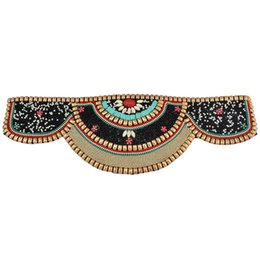 0369fe815846 Knitted Belt Colorful Beaded Vintage Bohemian Style Waistband For Dress  Hand Woven Waist Chain Ethnic Style Women