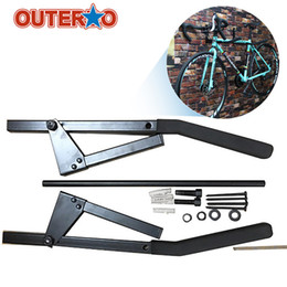 bicycle hangers Coupons - Outerdo New Arrival Foldable Bicycle Wall Mount Bike Storage Rack Holder Cycling Storage Hanger Stand Bike Holder Accessory
