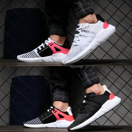 chaussures roses Promotion 2018 EQT 93 17 Chaussures de running pour hommes Future Future White White Pink Coat of Arms Turbo Rouge Femmes Sports Outdoor Sneakers