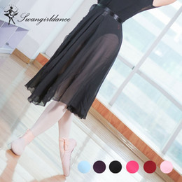 a89747c1f women Girls Chiffon Ballet Tutu long skirts adult Dance Costume Skirt Skate  Wrap Scarf Dress CF7500