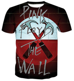 Wholesale 3d t shirt women - Pink Floyd 3D Printed Women men's Casual Short Sleeves T-shirts (7 Styles )