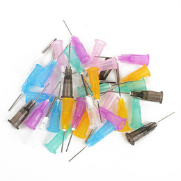 Wholesale precision tips - 140 pcs Precision Dispensing Needles Tips for Glue Liquid Dispenser Syringe 16 Gauge to 27 Gauge