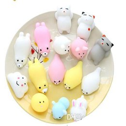 Wholesale Cases For Dolls - DHL Mini Squeeze Toy Squishy cat Cute Kawaii doll Squeeze Stretchy Animal Healing Stress Hand Fidget vent Toys Paste on for cellphone Case