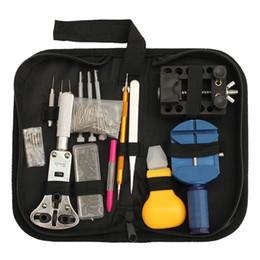 Conjunto de ferramentas de relógio traseiro abridor on-line-144pcs assistir de volta caso abridor de removedor de reparação chave de fenda kit conjunto de ferramentas de relojoeiro