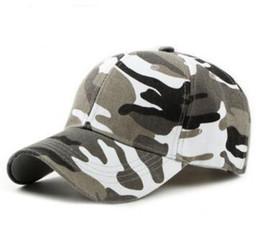 Männer armeekappen online-Plain Curved Cotton Army Camouflage Baseball Caps Für Erwachsene Mens Hat Womens Blank Military Hüte Frühling Sommer Sport Sonnenblende Kappe 10 stücke