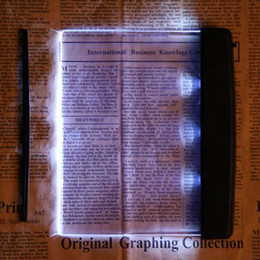 Wholesale Pc Flat Panel - Magic Night Vision Light Led Reading Book Flat Plate Portable Car Travel Panel Reading Light Protect Eyes 1 pcs