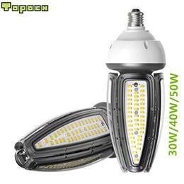 cambio de color de escenario bombilla led Rebajas Topoch LED Maíz Bombilla Lámpara 100-277V 50W 30W 40W 120LM / W E27 E40 HID CFL Reemplazo para Canopy Bay Garden Square Fixture