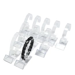 Wholesale Wholesale Plastic Watch Stand - Wholesale 15Pcs Acrylic Bracelet Display Rack Clear Rotating Watch Bangle Chain Organizer Storage Display Collar Holder Stand Free Shipping