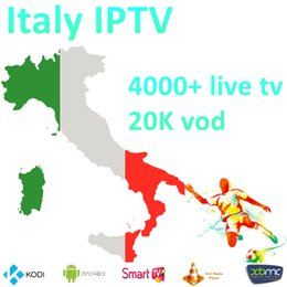mx tv box quad core Promotion Meilleure écurie Italie IPTV italia 4000+ PayTV Free Smart TV + albanais Turquie UK allemand USA IPTV