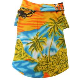 Küçük Köpek Giysileri Hawaiian Plaj Hindistan Cevizi Ağacı Baskı Köpek Gömlek Yaz Kampı Gömlek Giysileri Sevimli Giyim 3 renk 4 boyutu nereden
