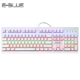 Wholesale Lol Led - K757 Mechanical Keyboard Blue  Black Switches 104 Keys Gaming Keyboard with Colorful LED Backlight for Dota LoL