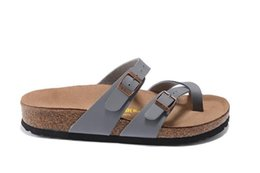 Sandalias de mujer online-nuevo 805 Mayari Arizona Gizeh street verano Hombres Mujeres sandalias planas de color rosa Zapatillas de corcho unisex Sandy beah zapatos casuales de impresión tamaño mixto 34-45